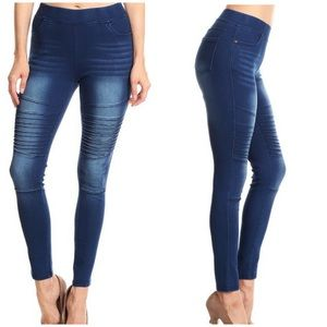 Pants - RESTOCK! Denim high waist pullover MOTO - Legging